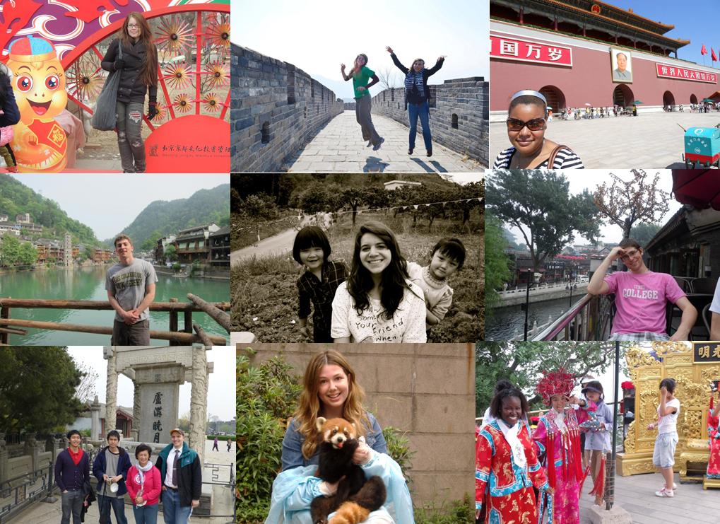 China study abroad collage