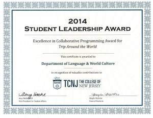 WLC Student Leadership Award