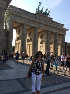 """""""A visit to Berlin and the Brandenburger Tor this summer! An amazing city where history looks you in the face every turn you take.""""  Karen Fenner, German Program Coordinator"""